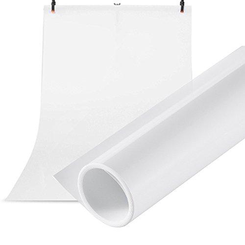 Selens 100X200CM 40X80INCH Photography Backdrop Paper Matte PVC Vinyl Seamless Background White