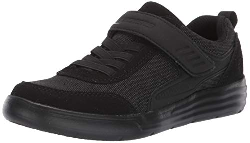 (Skechers Kids Boys' Maddox-Street Shifter School Uniform Shoe, Black, 4.5 Medium US Big Kid)