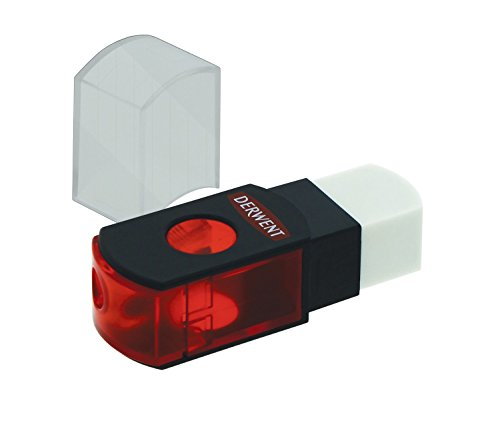 Derwent Pencil Sharpener with Eraser, Dual 2 in 1 (2302376)