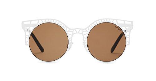 Quay Australia FLEUR Women's Sunglasses Cutout Metal Cat Eye Frame - - Sunglasses 6pm