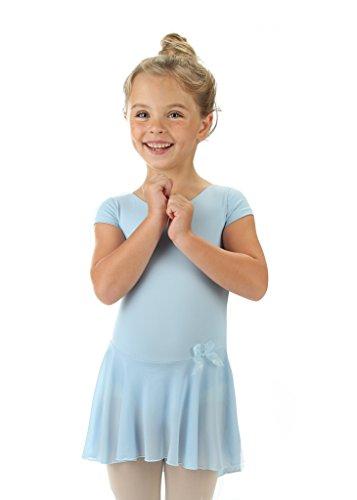 Elowel Bambini Ragazze Manica Corta Ginnastica Leotard Formato 2-14 Anni Piu Colori Balletto Serbatoio Body Gonna Tutu Costumi di Danza Leotard