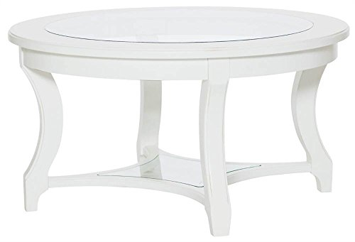 American Drew Cocktail Table in White 605654, (American Drew Cocktail Table)