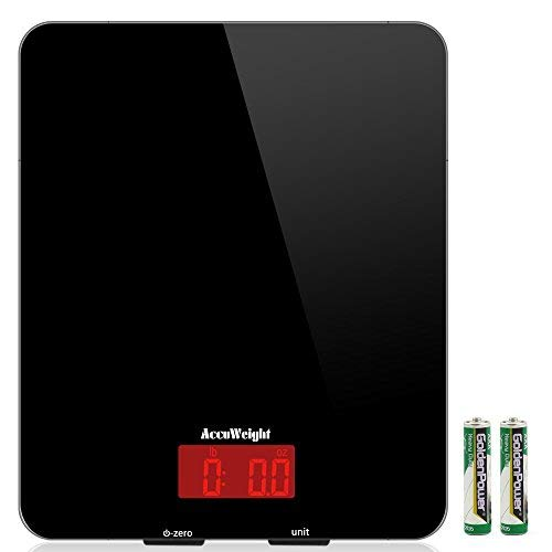 ACCUWEIGHT Báscula digital de cocina, 5 kg/11 lbs, Balanza de Alimentos Multifuncional