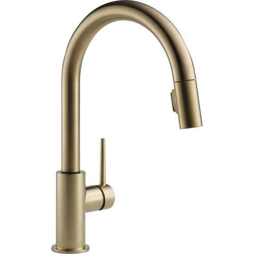 Delta 9159-CZ-DST Trinsic Single-Handle Pull-Down Kitchen Faucet with Magnetic Docking Spray Head, Champagne Bronze