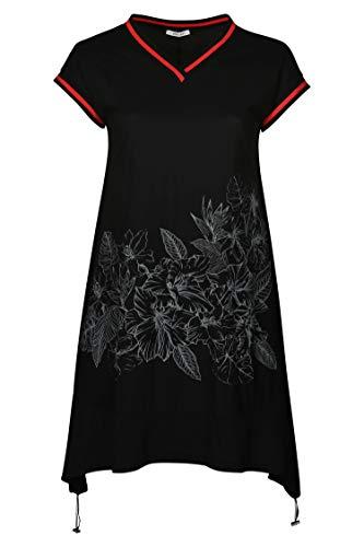 Damen mit Kleid Schwarz Sportswear Tunika Größen Streifen große PAPRIKA aXF1da
