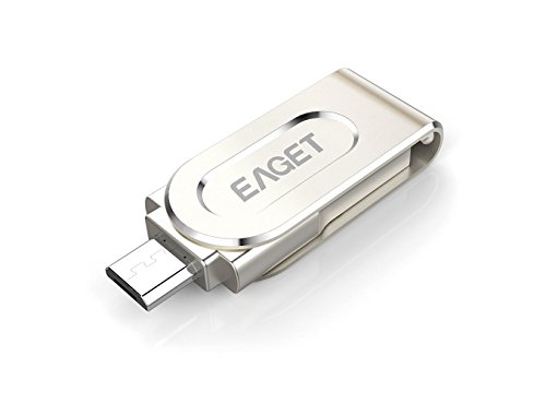 EAGET Flash Drive 64GB Dual USB 3.0 / Micro USB OTG for Android Smartphones and Tablets V88 by Eaget