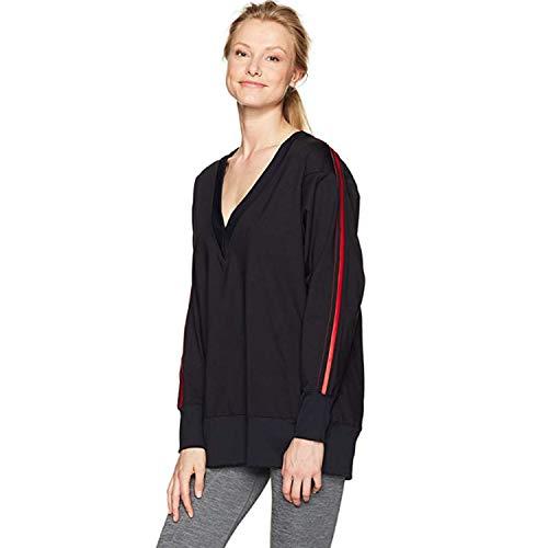 Koral Women's Axis Pullover, Black/Scarlett, XS
