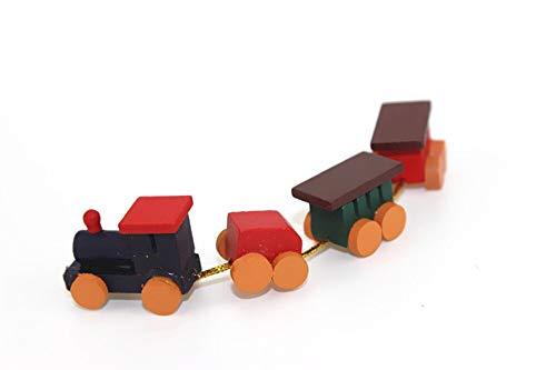 Kiartten Furniture - Dollhouse Miniature Accessories Mini Wooden Train Simulation Model Toys for Doll House Decoration 1 Pcs - Miniature Wooden Shelf