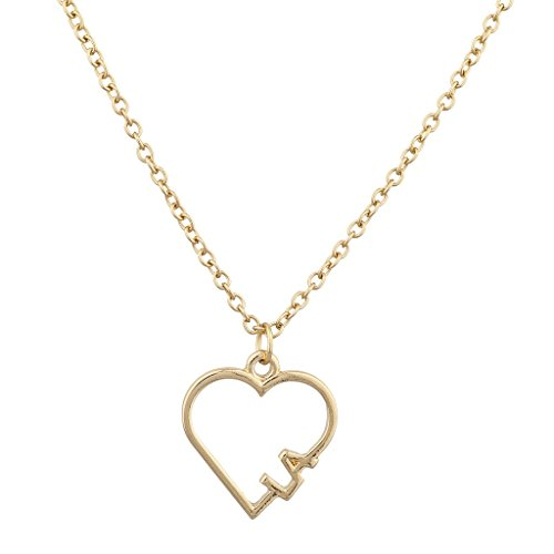[Lux Accessories Goldtone I Heart Los Angeles LA Open Heart Charm Necklace] (Drag Queen Costumes Los Angeles)