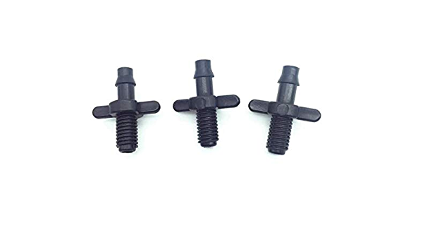 100pcs 4//7mm Splitter Adapter Connector Barb And Garden Irrigation-Hoses-6mm