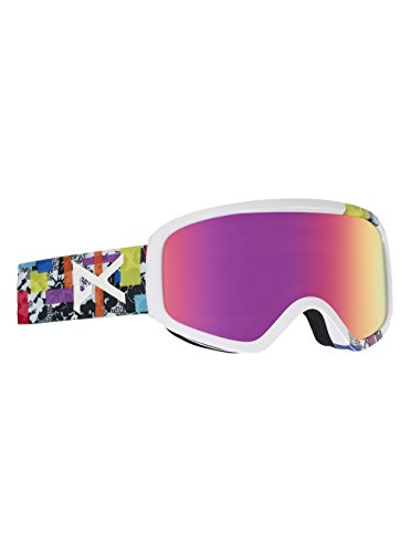 Anon Women's Insight Snow Goggles Bouquet With Pink Sq - Goggles Anon Otg