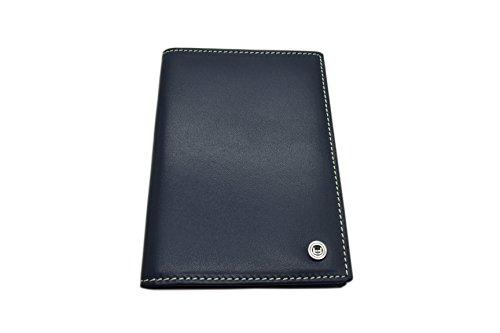Minimalist Passport Holder Travel Wallet with RFID Blocking Slim Card Case (Dark Blue)