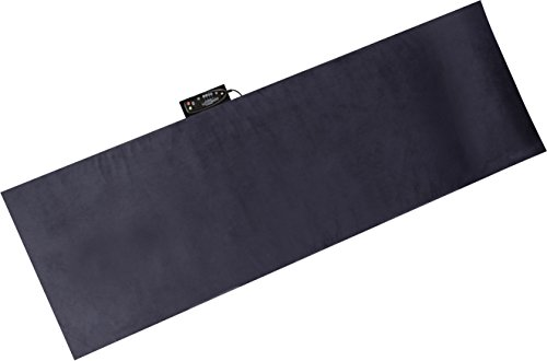 Relaxzen 10-Motor Massage Plush Mat with Lumbar Heat and Removable Cover and Pillow, Gray