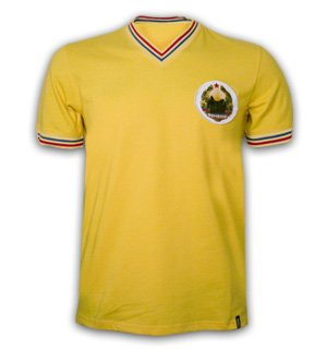 fafb1d7f1386 Romania 1973 Short Sleeve Retro Shirt 100% cotton  Amazon.co.uk ...