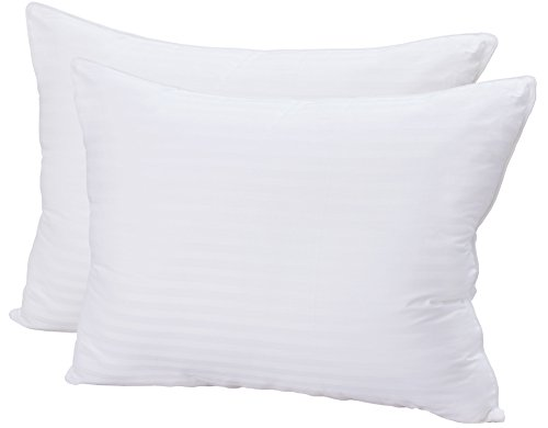 Super Plush Gel-Fiber Filled Pillows - (Pack of 2, Standard/Queen Size) - 100% Cotton, T-240 Mercerized Shell,