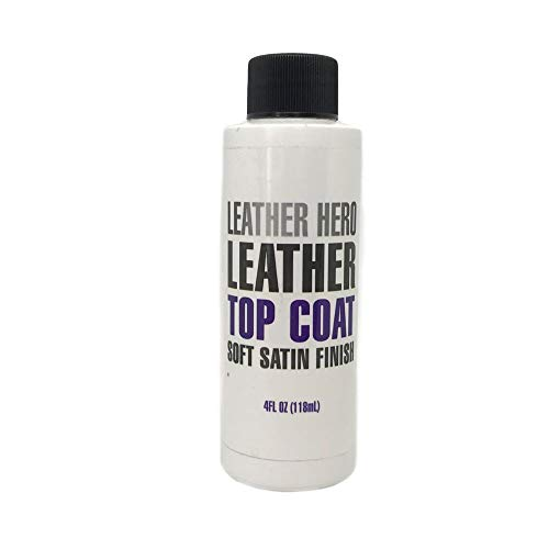 Leather Hero Satin Top Coat Leather Sealant Color Restorer 4oz