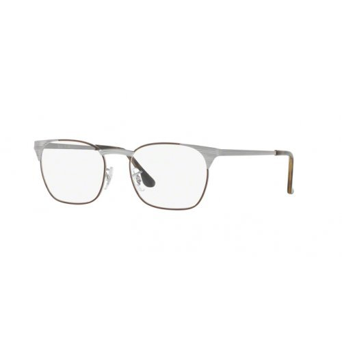 Ray-Ban Unisex 0RX6386 51mm Gunmetal/Brown One ()