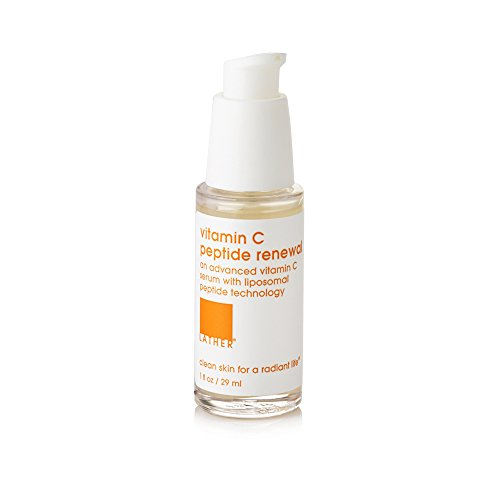 6600 Skin (LATHER Vitamin C Peptide Renewal 1oz – lightweight, antioxidant-rich facial serum for brighter, healthier looking skin)