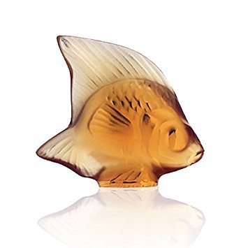 Lalique Amber Crystal Fish No. 7-3000700 (Lalique Amber Crystal)