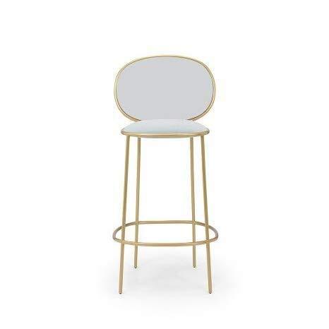 Amazon Com Xuexue Bar Stool Dining Chair Modern Wrought Iron Velvet Ktv High Stool Restaurant Back Bar Stool Bar Stool Color H Kitchen Dining