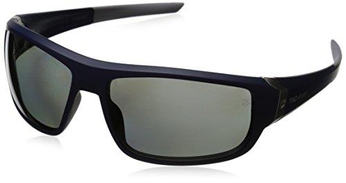 Tag Heuer 66 9221 106 641503 Polarized Rectangular Sunglasses, Navy Blue, 64 mm