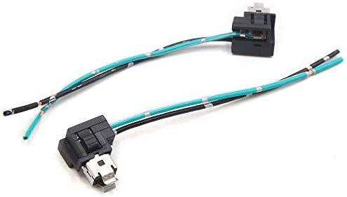 H1 H3 Kunststoff 2 Drähte Scheinwerfer Nebelscheinwerfer Glühbirne Ersatz Buchse Kabel Stecker Stecker Adapter für Auto / 2 Stück