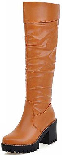 Brown Biker Boots For Women - 4