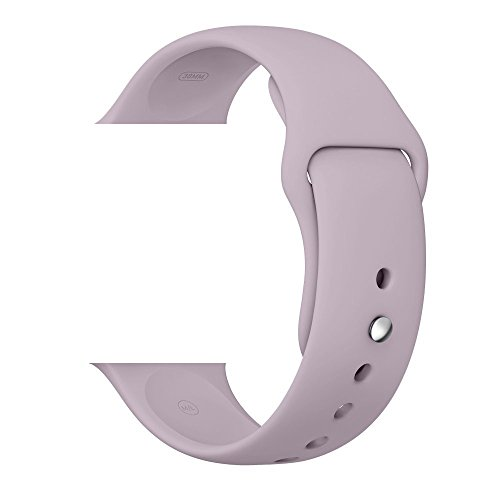 WESHOT Apple Watch Band, Silicone Soft Replacement Watch Band Strap For Apple Watch Sport Edition 38MM Lavender M/L by WESHOT