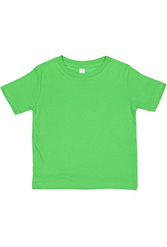 Rabbit Skins 100% Cotton Blank Toddler Fine Jersey Tee [Size 4T] Apple Green Short Sleeve (Blank Toddler Shirts)