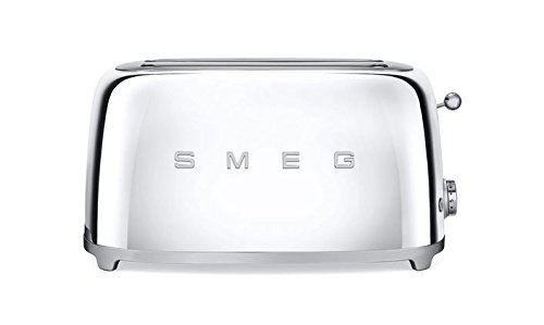 Smeg TSF02SSUS 50's Retro Style Aesthetic 4 Slice Toaster, Chrome