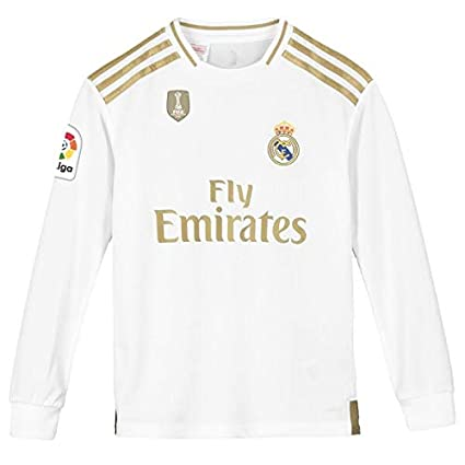 best sneakers 0e13f 33aca GOLDEN FASHION Non Real Madrid Home KIT 2019-20 Full Sleeve Jersey with  Short with Champion and LALIGA Badge