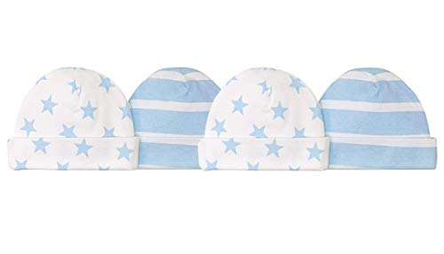 Gerber Baby Boys' 4 Pack Caps - Handsome Stars and Stripes