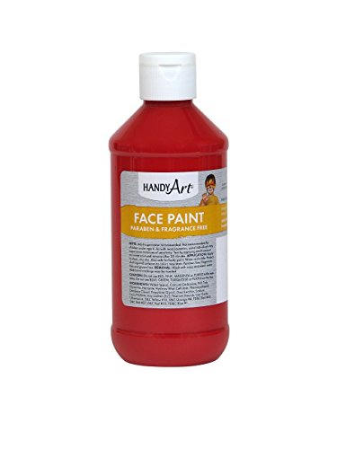 Handy Art 556-020 Face Paint, Red, 8-Ounce -