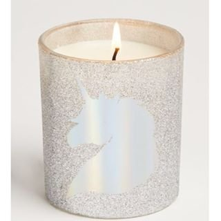 Rue21 Unicorn Dreamer Candle Single Wick 9 Ounce Silver Glitter - Candles Dreamers