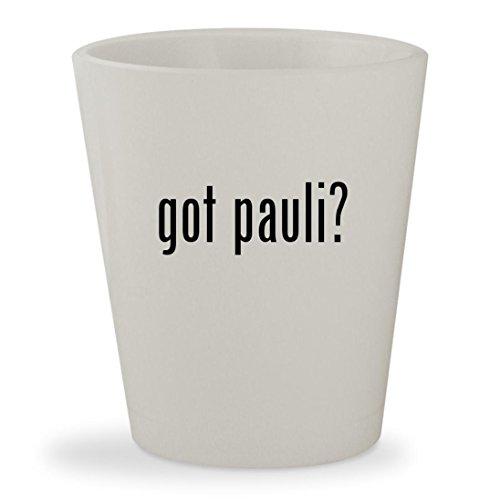 got pauli? - White Ceramic 1.5oz Shot - Dj Hair Pauly New D