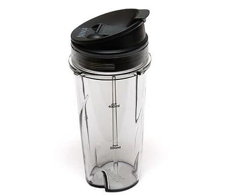 Ninja batidora vaso - 16 oz individual servir y taza con ...