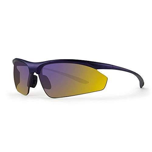 Epoch Eyewear 6 Purple/Black Polycarbonate Frame With Mirror Polarized Lens