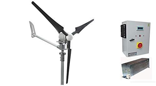 ISTABREEZE Set 1.5kW, 24V Windsafe, WINDGENERATOR, Charger, I / HCC1500 / 24V (1.5Kw 24V Wind...