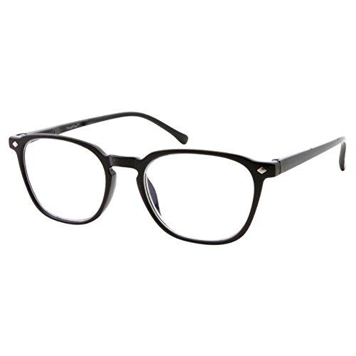 Anti Glare Lens Progressive Multifocus Reading Glasses (Black, 2.50)