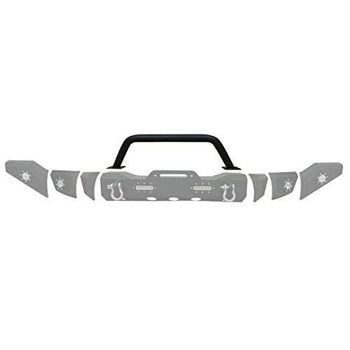 Paramount Restyling Black Jeep Wrangler JK Modular Front Bumper with Pre-Runner Hoop