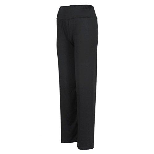 Bohême Décontracté Noir Fluide Femme Ete Chic Pantalon Grande Xx6SH1nx