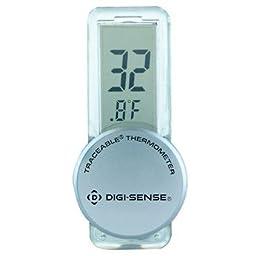 Digi-Sense Calibrated Big-Digit Stick It Anywhere Compact Digital Thermometer