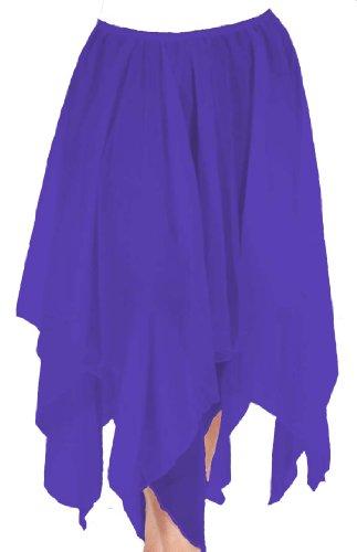 Chiffon Double Handkerchief Skirt/Purple