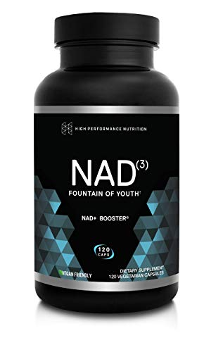 HPN NAD+ Booster – Nicotinamide Riboside & NMN Alternative (NAD3) | Anti Aging NRF2 Activator, Superior to NADH – Natural Energy Supplement for Longevity & Cellular Health, 120 Veggie Pills