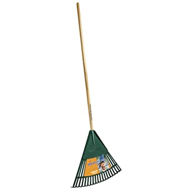 Ames True Temper Real Tools For Kids Poly Leaf Rake With 42-Inch Handle KLRO