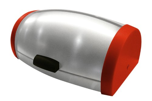 (Francois et Mimi Stainless Steel Roll-Top Bread Box, Large, Red)