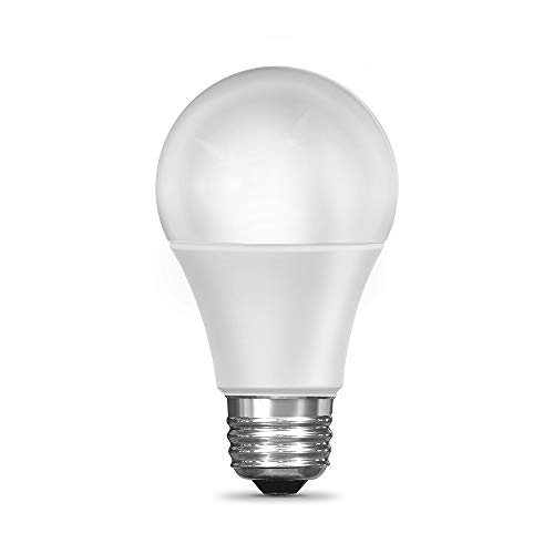Feit Electric OM60/RGBW/CA/AG Smart WiFi Changing and Dimmable, Alexa or Google Assistant, No Hub Required A19 LED Light Bulb, 60W, Multi-Color RGBW