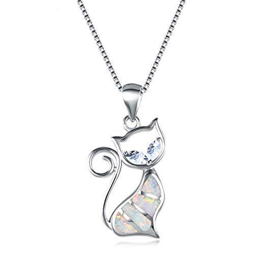- QMM necklace Pendant 925 Sterling Silver Pendants Necklaces for Women White Fire Necklace Inlay Zircon Female Wedding Animal Choker