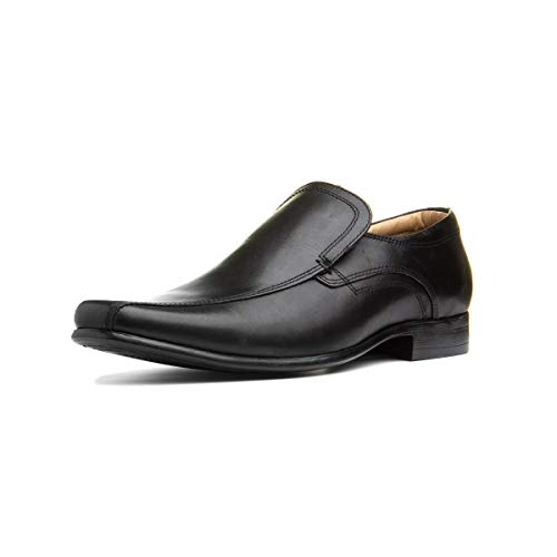 Red Tape Ulster Mens Leather Slip On Shoe in Black