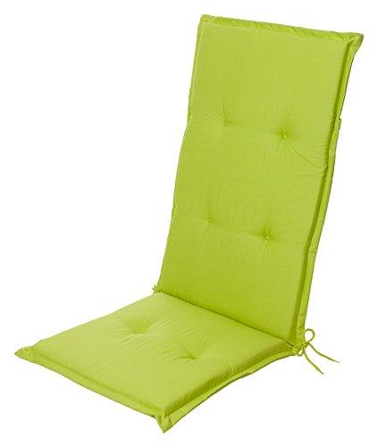 Coussin d\'assise et de dossier Vert Pour fauteuil de jardin à haut ...